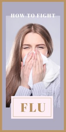 Template di design Woman suffering from flu Graphic