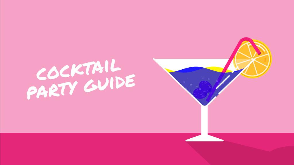Cocktail Party Drink in Martini Glass — Modelo de projeto