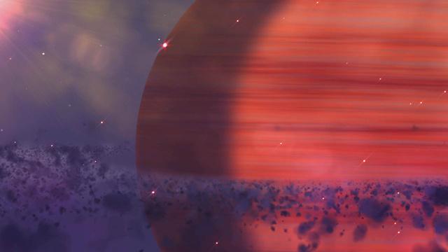 Red Planet in Space Zoom Background – шаблон для дизайну