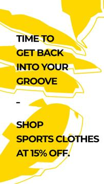 Sports Clothes Shop Offer with yellow Textures
