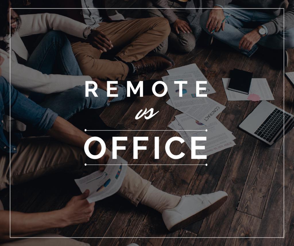 Business Team Working on a Floor — Maak een ontwerp