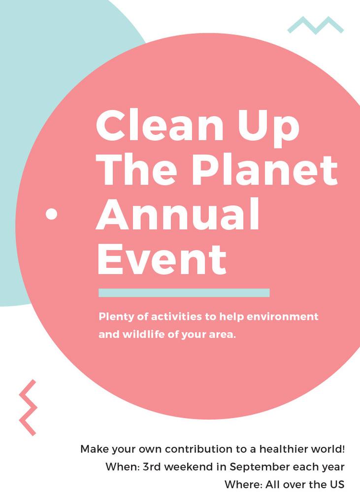 Ecological Event Simple Circles Frame — Crear un diseño