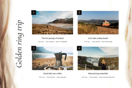 Road Trip to Nordic countries Storyboard Modelo de Design