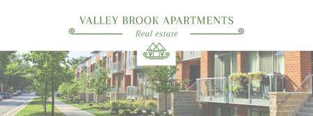 Plantilla de diseño de Real Estate Offer with Residential Modern House Facebook cover