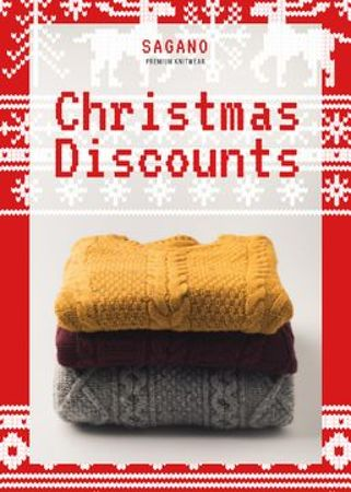Ontwerpsjabloon van Flayer van Christmas Sale Stack of Sweaters