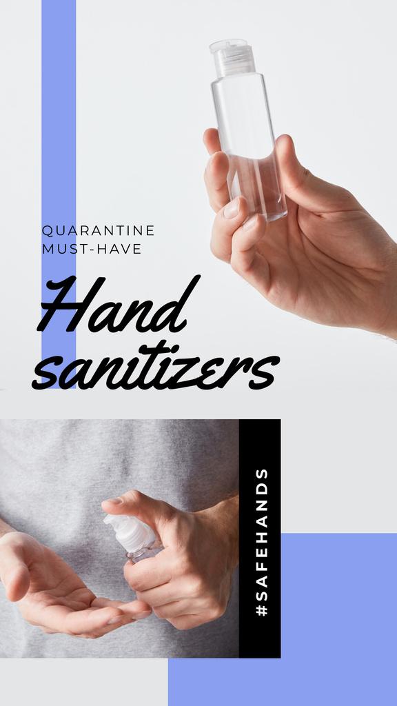 #SaveHands Man applying Sanitizer — Modelo de projeto