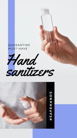 #SaveHands Man applying Sanitizer Instagram Story Tasarım Şablonu