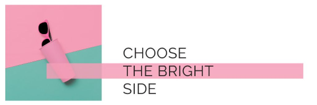 choose the bright side lettering with sunglasses in case — Crear un diseño