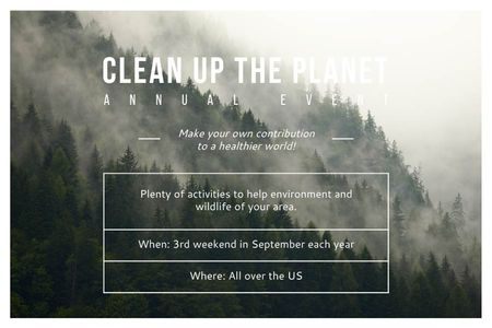 Clean up the Planet Annual event Gift Certificate Design Template