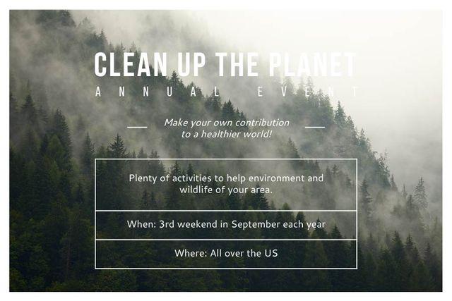 Szablon projektu Clean up the Planet Annual event Gift Certificate
