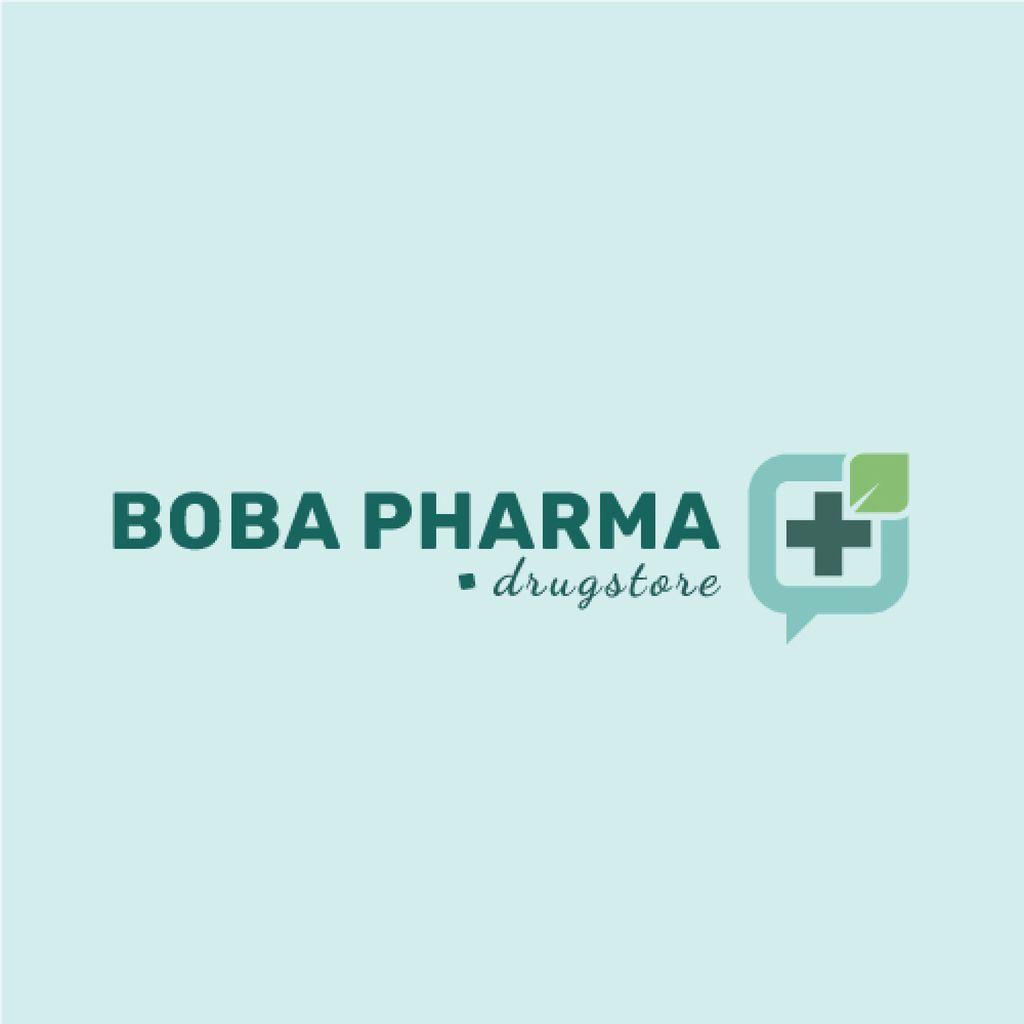 Drugstore Ad Medical Cross Icon — Modelo de projeto