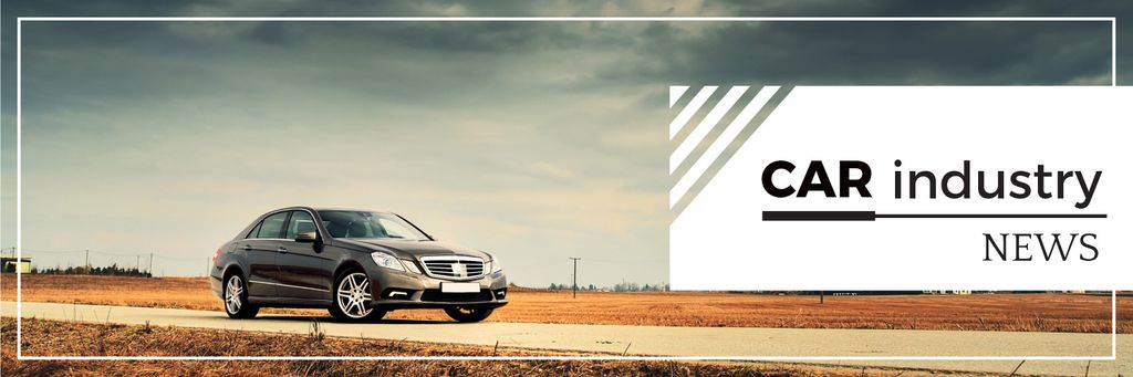 Car industry news banner Twitter Modelo de Design
