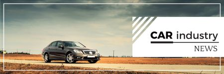 Car industry news banner Twitter Modelo de Design