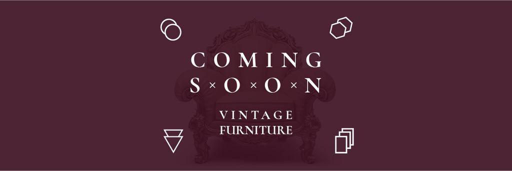 Coming soon vintage furniture shop — Crear un diseño