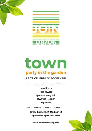 Town party in the garden Poster Modelo de Design