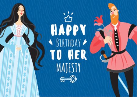 Plantilla de diseño de Queen's Birthday Greeting Postcard
