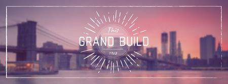 Real estate Ad with Big City view Facebook cover Design Template