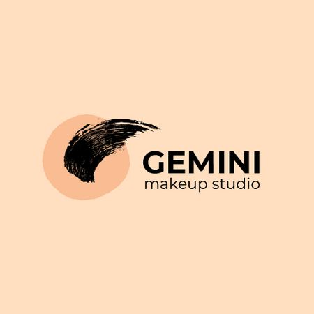 Plantilla de diseño de Makeup Studio Ad with Paint Smudge in Pink Animated Logo