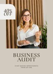 Business Audit Services Ad Confident Businesswoman