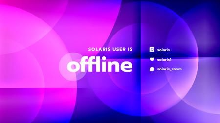 Stream Ad with Gradient Circles Twitch Offline Banner Modelo de Design