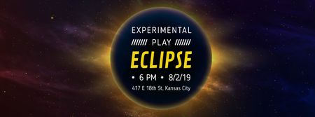 Template di design Solar eclipse in space Facebook Video cover