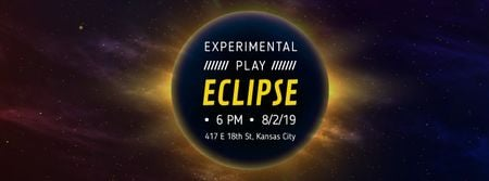 Plantilla de diseño de Solar eclipse in space Facebook Video cover
