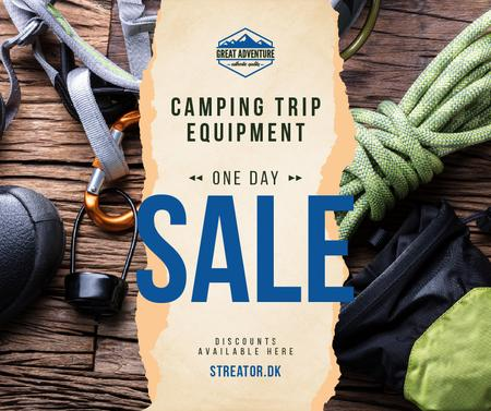 Camping Equipment Offer Travelling Kit Facebook Modelo de Design