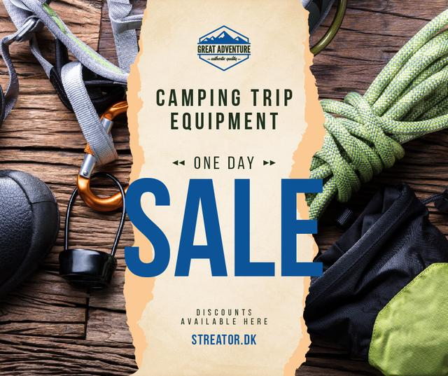 Camping Equipment Offer Travelling Kit Facebookデザインテンプレート