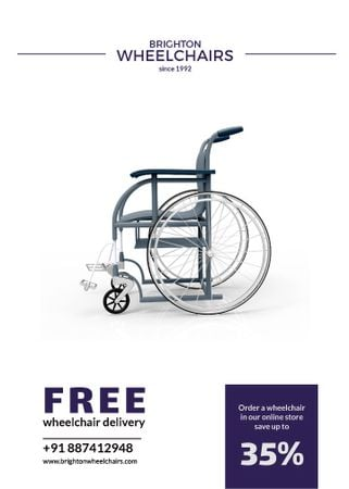 Wheelchairs store offer Flayer Modelo de Design