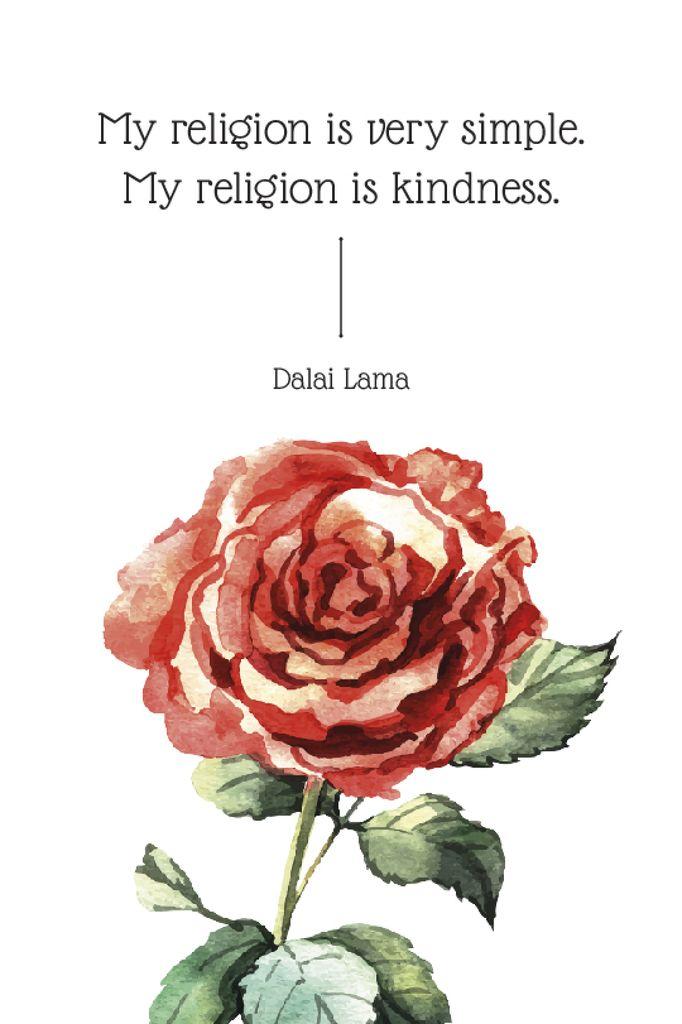 Religion Inspirational quote with rose — Crea un design