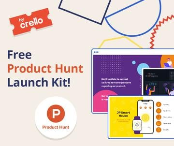 Product Hunt Launch Kit Offer Digital Devices Screen | Facebook Post Template