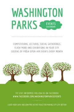 Park Event Announcement Green Trees | Tumblr Graphics Template