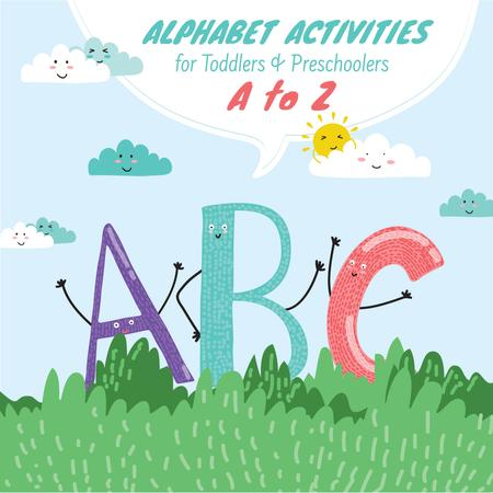 Modèle de visuel ABC funny letters for kids - Instagram AD