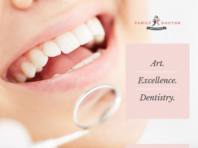Woman at dentist check-up Presentation – шаблон для дизайна