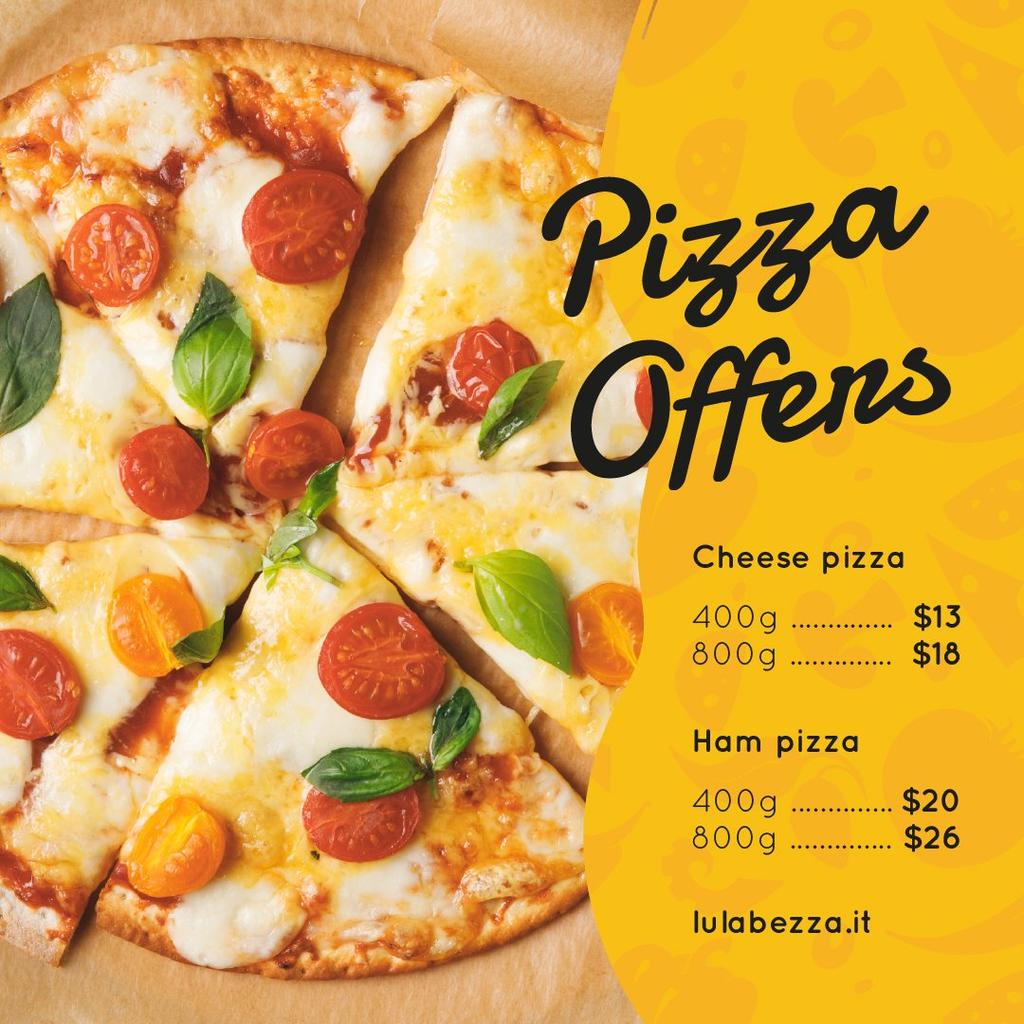 Plantilla de diseño de Pizza slices on plate Instagram