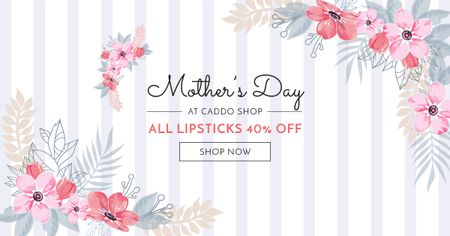 Plantilla de diseño de Shop Offer on Mother's Day Facebook AD