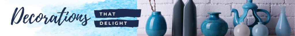 Home Decor Ad Vases in Blue — Crear un diseño