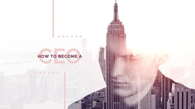 Ontwerpsjabloon van Youtube van Man's Silhouette on Skyscrapers View