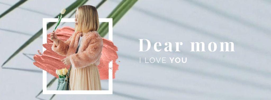 Little girl holding flower — ein Design erstellen