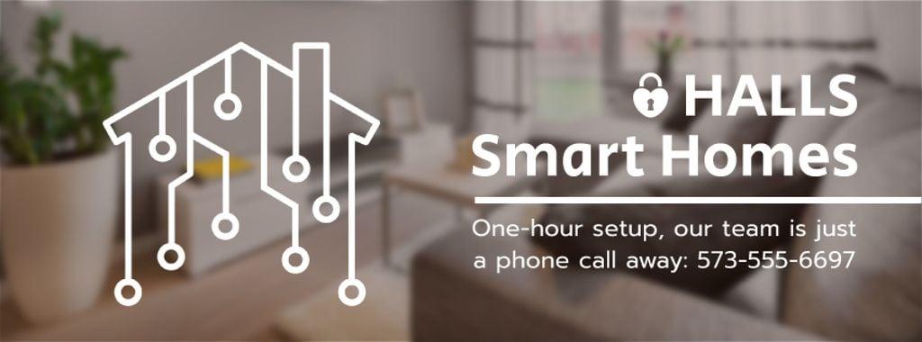 Digital icon on house network — Создать дизайн