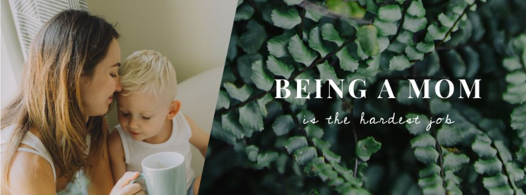 Mother's Day Greeting Child with Loving Mom   Facebook Video Cover Template — ein Design erstellen