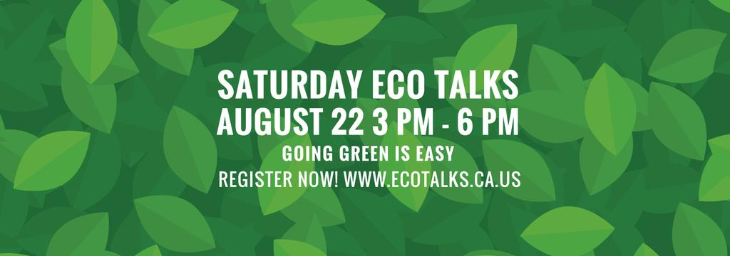 Ecological Event Announcement Green Leaves Texture | Tumblr Banner Template — Create a Design