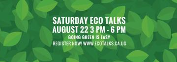 Ecological Event Announcement Green Leaves Texture | Tumblr Banner Template
