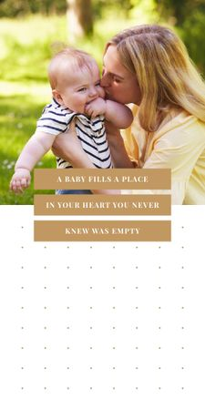 Ontwerpsjabloon van Graphic van Happy mother with her child