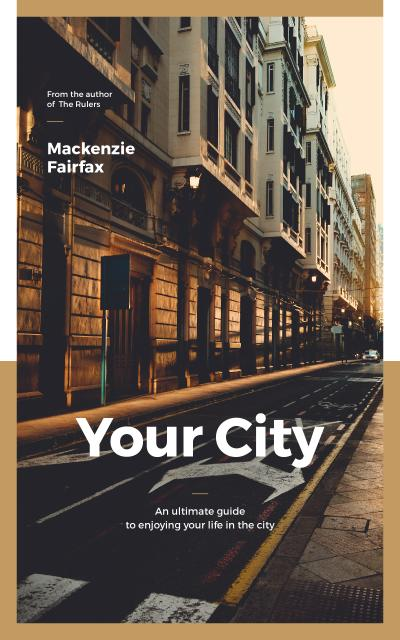 City Guide Narrow Street View Book Cover Modelo de Design
