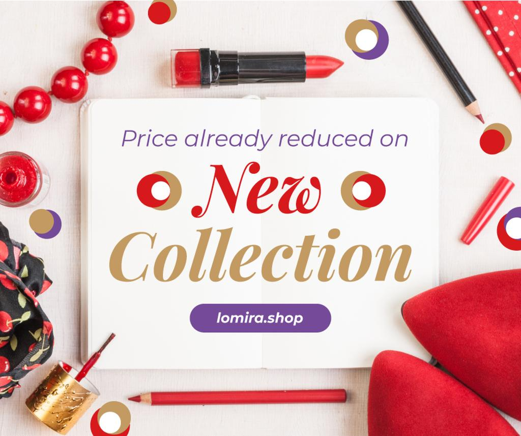 Makeup Offer Red Cosmetics Set —デザインを作成する