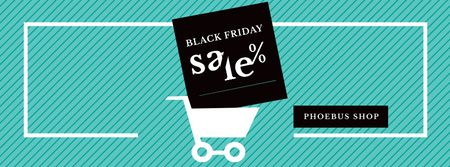 Black Friday Sale Shopping cart Facebook cover – шаблон для дизайна