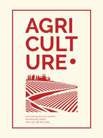Ontwerpsjabloon van Poster US van Agriculture company Ad Red Farmland Landscape