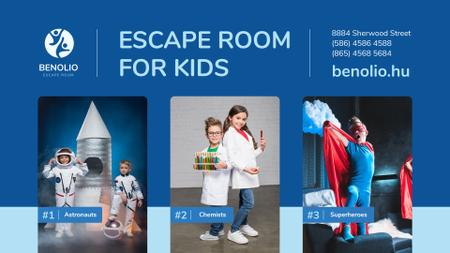Playing Room for Kids in Costumes FB event cover Modelo de Design