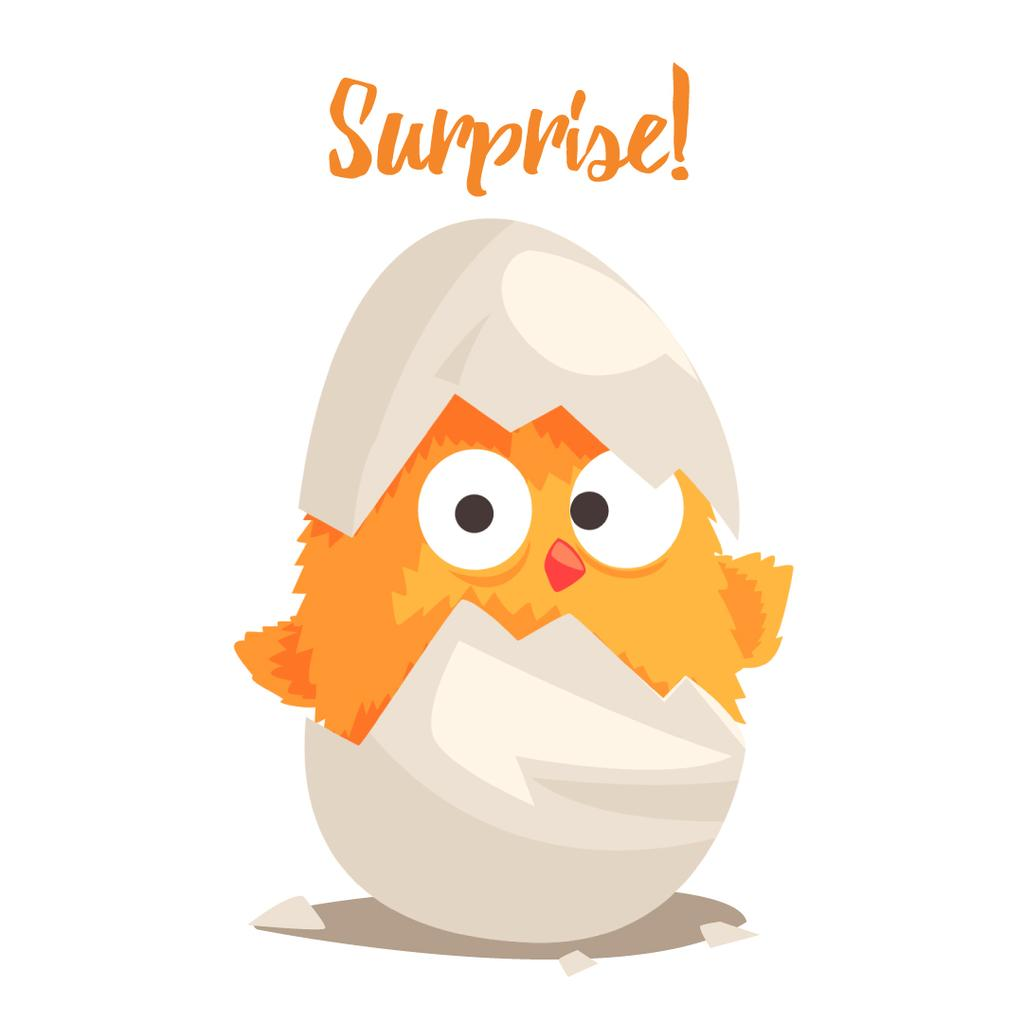 Chick hatching from Egg — Create a Design